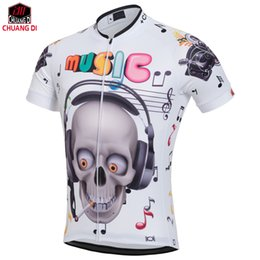 Wholesale Mens Road Cycling Jersey - 2018 Mens Cycling Bicycle Jersey Mountain Road Short Sleeve Shirt Bike Clothing funny Skeleton