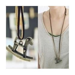 Wholesale Sheng Long - $10 (mix order) Free Shipping Vintage Wooden Mapi Sheng Long Necklace Sweater Chain N038 10g