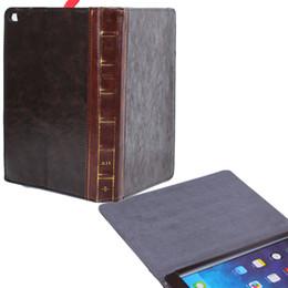 Wholesale Ipad Mini Retro Leather Case - Retro Book Cases for iPad Air2 6 Leather Stand Case iPad6 Smart Cover Flip Covers iPad Air 2   iPad Mini Foldable Vintage Cases