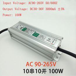 Wholesale Led Driver 36v - Free shipping 100W Floodlight LED Driver IP65 waterproof floodlight lighting transformer AC 90V-265V output DC30-36V 3000mA