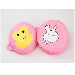 juguetes de navidad mono Rebajas Hot Jumbo Kawaii Squishies Strawberry Cake pink rabbit cake pink monkey cake Slow Rising Toys Suave Squishy Squeeze Kid Navidad Juguete de regalo