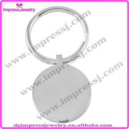Wholesale Steel Key Blanks - IJK2010 316L Stainless Steel Round Shiny Polishing Blank Cremation Jewelry Key Chains Memorial Ashes Pendant Urn Keepsake