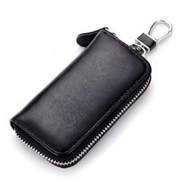 Wholesale Customized Key Chains - Men Women Portable Genuine Leather Zippered Keys Case Long Bag Multifunctional Business Car Key Holder Bags Manufacturer Customize Wholesale