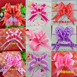 Wholesale Christmas Pull Bows Wholesale - Christmas Gift Packing Pull Bow Ribbons Mix colors 5*8CM Wedding Decorative Birthday valentine's Room Ornament &Decoration,Gift&Present G02