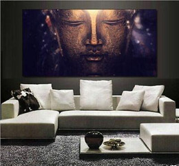 Wholesale Buddhas Oil Painting - Hand-painted canvas modern art abstract art painting Buddha mural (no frame)