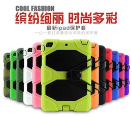 Wholesale Screen Protector Ipad3 - All-Terrain Protective Case Stand Hybrid Plastic Silicone Rubber Robot Shockproof Heavy Duty With Screen Protector For iPad Mini 1 2 3