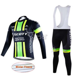 Wholesale Scott Winter Thermal - 2017 scott winter thermal fleece cycling jerseys long sleeve bicycle mtb bike winter cycling clothing sport Set K1501