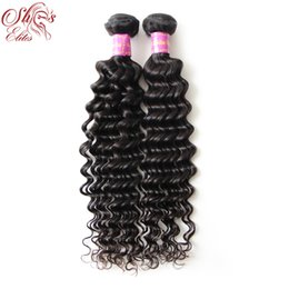Wholesale Wholesale Brazilian Hair Elite - Top Quality Virgin curly 2pcs lot Elites hair products Brazilian virgin hair weave Human deep curly hair Can be dyed