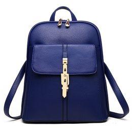 Wholesale Black Cross Rhinestone Purse - 2016 Fashion Lady Women PU Leather Shoulder handbag Tote Hobo Purse Leisure Double shoulder Backpack Style 9 color Schoolbag KLY8856