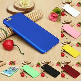 Wholesale Rubberized Phone Covers - For iPhone 6 6S Plus Ultrathin Frosted Matte Ultra-Thin Rubberized PC Hard Back Phone Case Cover for iPhone6 5 5s 4 5c 6Plus