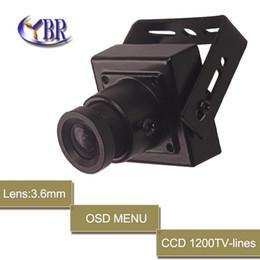 Wholesale Video Osd Camera - HD 750tvl Hidden SONY EFFIO-E CCD D-WDR Board Mini Security Video Camera 3.6mm Pinhole Lens OSD MENU For Home Surveillance Cam