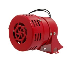 Wholesale External Siren - FS Hot AC 220V Red Metal Motor Driven Air Raid Siren Horn Alarm order<$18no track