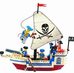 Wholesale Building Blocks Pirate Ship - Wholesale-New 188pcs set Intellectual Assembling Toys 304 Pirate Ship Building Bricks Blocks Sets Figures Minifigures compatible