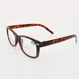 Wholesale Men Leopard Wholesale - Retro Classic Women Men Flex Spring Hinge Resin Lens Bifocal Reading Glasses Leopard Frame Eyewear Diopter +1.0 - +4.0 20Pcs Lot