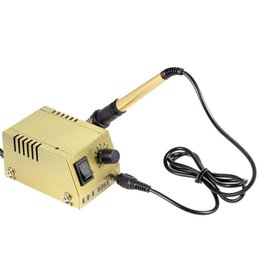 Wholesale Electric Soldering Iron Welding - Mini Electric Soldering Station Power Adjustable Solder Station Solder Iron Welding Equipment for SMD SMT DIP