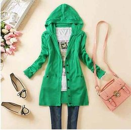 Wholesale Womens Puff Jackets - Wholesale-Womens Casual Long Sleeve Knitted Sweater Cardigan Coat Outwear Jacket 7 Colors