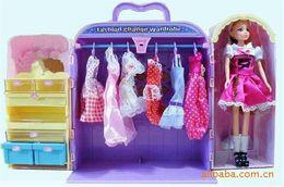 muñeca barbie china Rebajas Caja de muñecas Caja de juguetes Caja de muñecas Niños calientes Encantadores Juguetes de peluche Caja de guardarropas Chicas de moda Juguetes de muñecas Caja grande