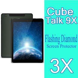 Wholesale Diamond Sparkling Screen Protector - Wholesale-Cube U65GT Talk 9X Diamond Screen Film 3X New Original Diamond Sparkling Screen Protector Cube U65GT Talk9X Tablet PC