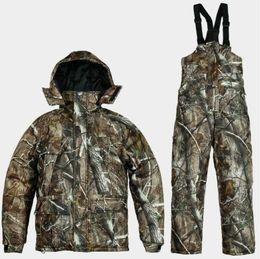 Wholesale full ski suit - Free Shipping Winter 1 Suit Realtree AP Camo Hunting Jacket,Bibs Realtree AP Camouflage Suit Hoodies Pants,Hunting Fishing Hiking Ski Suit