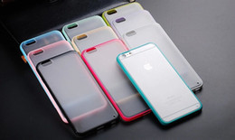 Wholesale Iphone Bumper Matte Back - Hybrid Frosted Matte PC Back Cover + TPU Bumper Frame Case For iPhone 4 5 5C 6 Plus Samsung S5 S6 Note 3 Note4 Grand 2 G7106