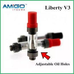 Wholesale Genuine Cartridges - Genuine Amigo Liberty V3 Tank 0.5ML Top Filling Adjustable Oil Hole AS CE3 V5 V9 Cartridge Free Shipping