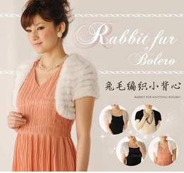 Wholesale Knit Rabbit Fur Cardigan - Wholesale-ZDFURS * Autumn and winter fur vest rabbit fur knitted waistcoat outerwear cardigan short design gilet free shipping