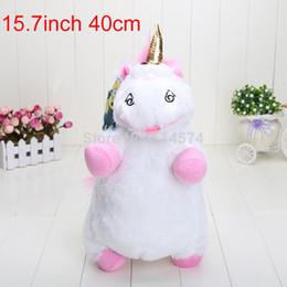 Wholesale Despicable Fluffy Unicorn Plush - Wholesale-High Quality Despicable Me 50pcs 40cm 15.7inch Despicable Me Fluffy Unicorn Plush Pillow Toy Doll