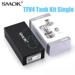Wholesale Wholesale Crown Box - 100%Original SMOK TFV4 Tank Single Kit sub ohm Top fill 5.0ml atomizer smoktech Vapor Box Mods RDA v Tfv4 Full Trition CROWN Arctic Herakles