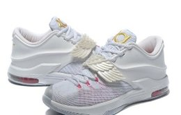 Wholesale Pearl Medium - Free Shipping Wholesale 2016 Kd7 VII Aunt Pearl Wings Mens Womens Basketball Shoes Kevin Durant kd7 EXT Floral QS Sneakers with Original Box