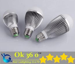 Wholesale Dimmable Ball Light 15w - High power CREE lamp Globe light 9W 12W 15W Dimmable Bubble Ball Bulb E14 E27 B22 GU10 85-265V LED 3*3W spotlight downlight Ball Lighting