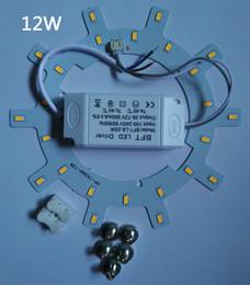 Panel circular led 12w online-¡CALIENTE! Envío gratis PANEL LED Círculo de luz AC85-265V SMD5730 12W 15W 18W 24w LED Panel de techo redondo la lámpara circular + fuente de alimentación + Magnético