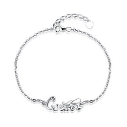 gifts for teens girls Coupons - Elegant Ladies Popular Lady Letters Grace Bracelet Crhistmas Valentines Anniversary Party Gifts for Women Girls Teens