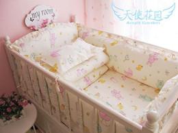 Wholesale Baby Girl Crib Bedding Cheap - Free Shipping 100% Cotton Baby Bedding Set Super Good Quality Baby Bed Bumper for Girl Cheap Price Baby Boy Crib Bedding Set