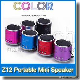 Wholesale Digital Card Pc - 6 Colors FM Radio&Mini Portable USB Digital PC Micro SD TF Card MP3 Music Player Loud Speaker