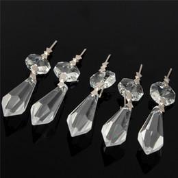 2019 ornamenti di vetro di vetro 10X per tende divisorie per ingresso perline larghe Lampadario in cristallo trasparente lampada prisma pendente pendente pendente set 38mm + 14mm ordine $ 18no tr