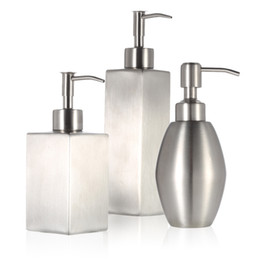Wholesale Dispensers For Soap - High-quality Stainless Steel Soap Liquid Dispenser for Bathroom Kitchen Countertop Bathroom Accessory H16558