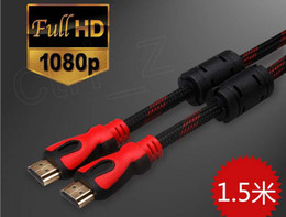 Hdmi cable ethernet 3d online-1.4V 5 FT Cable HDMI con Ethernet HDMI macho a macho Cable 1.4V 3D 1080p 4 K * 2 K HDMI Cable de 1,5 M HDMI