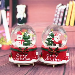 Wholesale Christmas Gift Snow Ball - New Arrival Merry Christams Music Box Snow Man and The Christmas Tree Design Crystal Ball with The Snow Flake for Child's Best Gifts