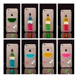 Wholesale Protective Covers For Iphone 4s - Wine cup cases for iphone 5 5G 5S 4 4S Fun Flowing Sandglass Hourglass Wine Cup Design Clear Crystal Hard Protective Back Case Cover Skin
