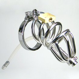 Wholesale Bdsm Locks - Urethral Chastity Devices Male Chastity Belt Penis Plugs Urethral Catheter Cock Rings Chastity Cage Urethral Sounding BDSM Cock Lock For Man