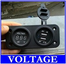 Wholesale Motorbike Car Lighter Socket - Perfect 12V Charger Plug 12V 2 in 1 Dual Motorbike Motorcycle Car Cigarette Lighter Socket Plug Power Outlet Plug A-F STYLE