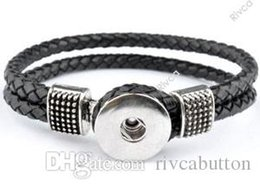 Wholesale Leather Charm Bead Bracelet Wholesale - P00046 wholesale 2015 newest design snap jewelry wholesale buttons snap noosa chunks leather bracelets for women