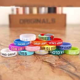 Wholesale mechanical finger ring - New Design Silicone Finger Ring anti-slip silicon Vape Band beauty Covering rubber ring for Mechanical Mod E Cigarette Accessories DHL free