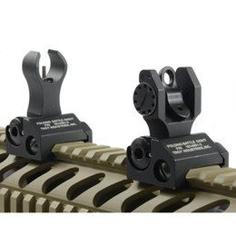 Wholesale Wholesale Rear Sights - Wholesale-iorn sight Troy Metal Iron Sights Front and Rear Sights Folding Back-up Sights Folding sight Free Shipping