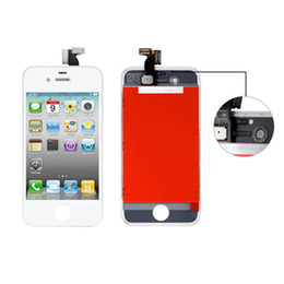 Wholesale Iphone 4s Button Assembly - Best quality For iPhone 4 4s LCD Touch Screen Replacement with Home Button and Camera Full Set Digitizer Display Assembly Replacement