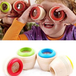 Wholesale Kaleidoscope Wholesale - Wholesale- 1pc Wood Bee-eye Interesting Effect Magic Kaleidoscope Explore Baby Kids Learning Educational Puzzle Toy for Children