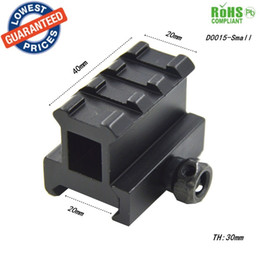 Wholesale Dovetail Riser - 20mm scope rail mount High Profile Riser Mount with 3 slots scope mount Extensio 20mm Dovetail rail extension rise mounts - D0015-Small