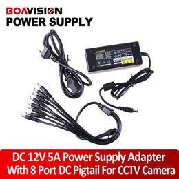 Wholesale Camera Power Box - 12V 5A 8 Port CCTV Camera AC Adapter Power Supply Box For the camera
