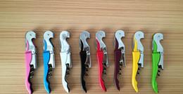 Wholesale Function Bars - Customize Logo Pocket Bar tool Metal Cork Screw Corkscrew Multi-Function Red Wine bottle Opener