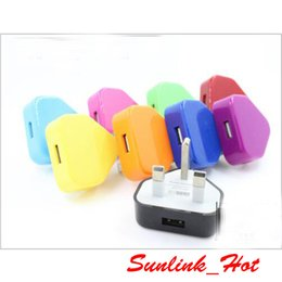 Wholesale Uk Usb Plug High - high quality useful many colors available uk plug usb wall charger 220V-240V input 5V 1A output